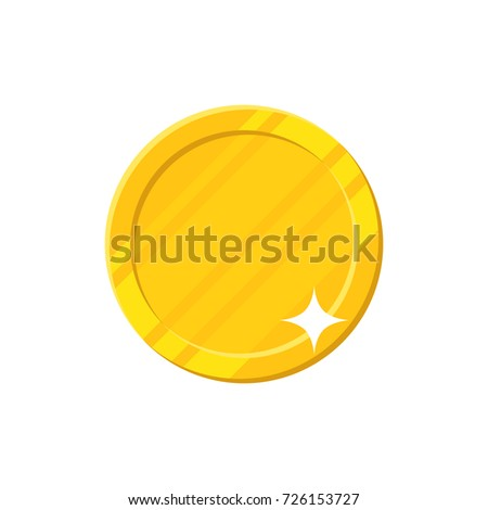clean coin bright shining blank template stock illustration