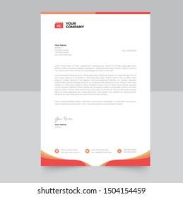 Clean Corporate Letterhead Template Design