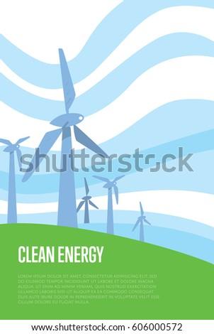 Royalty Free Stock Illustration of Clean Energy Raster Illustration