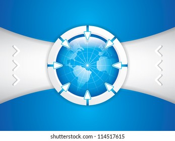 Clean futuristic design template with earth globe.Brochure