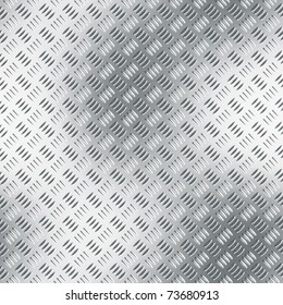 Clean metal diamond plate, seamlessly tillable as a background pattern.