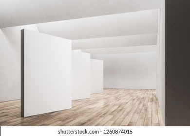 Clean office interior with copy space on wall. Mock up, 3D Rendering