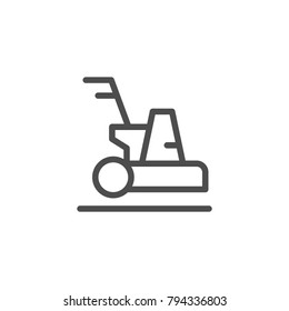 Cleaning machine line icon isolated on white