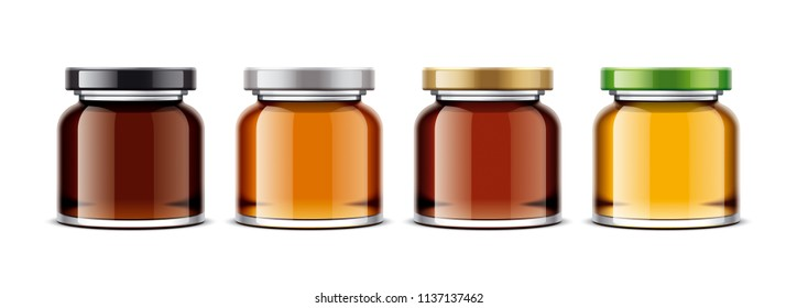 Clear Honey Jar mockup. Small size. 3d rendering