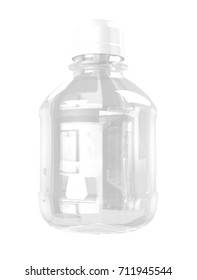 Clear Ink Bottle Packaging  Mockup for Design Project - Mock Up 3D illustration Isolate on White Background