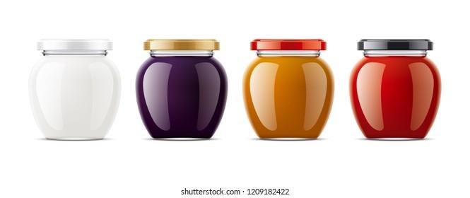 Clear Jar mockup. 3d rendering