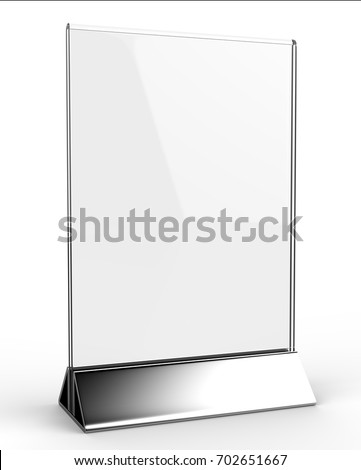 Clear Plastic Acrylic Table Talkers Promotional Stock Illustration ...