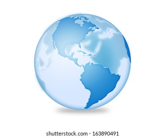 Clear three dimensional earth illustration.