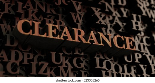 Clearance - Wooden 3D rendered letters/message.  Can be used for an online banner ad or a print postcard.