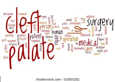 Cleft palate word cloud concept