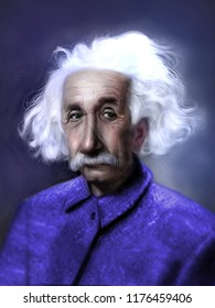 Cleveland, OH / USA - 8/1/2018:  Albert Einstein 3/14/1879 to 4/18/1955 was a German-born theoretical physicist who developed the theory of relativity. He received the 1921 Nobel Prize in Physics.