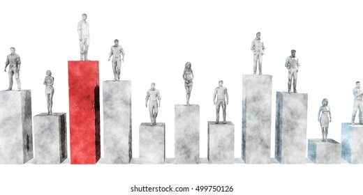 Climb the Corporate Ladder as a Business Concept 3d Illustration Render