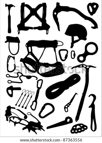 Climbing Equipment Stock Illustration 87363556
