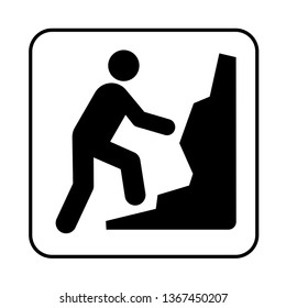 Climbing recreational sign