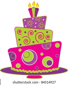 Terrific Birthday Cake Clip Art Images Stock Photos Vectors Shutterstock Funny Birthday Cards Online Fluifree Goldxyz