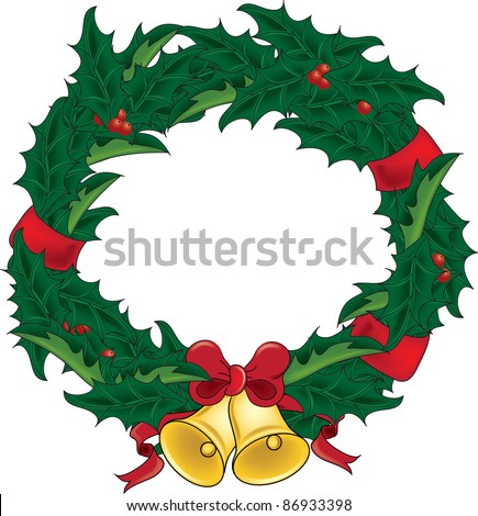 royalty free stock illustration of clip art illustration holly rh shutterstock com christmas wreath clipart transparent background christmas wreath clipart png