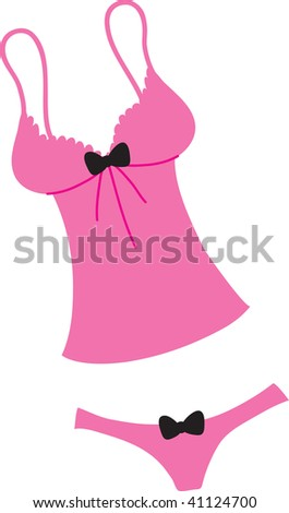 e5e80acd69fb Clip art illustration of a pink camisole and a pair of matching panties.
