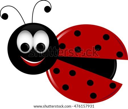 royalty free stock illustration of clip art image cute ladybug her rh shutterstock com cute ladybug clipart free Cute Butterfly Clip Art