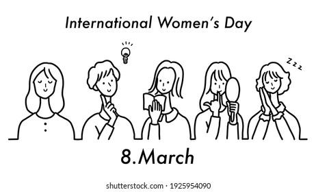 Clip art of international women's day drawing.