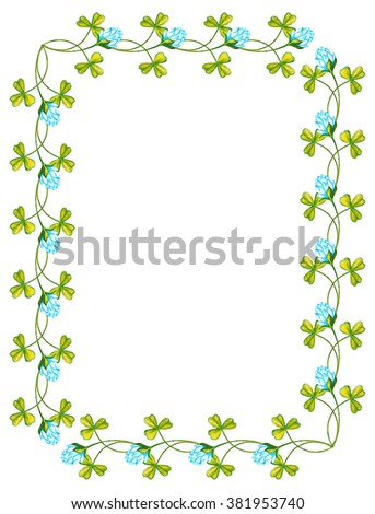 Royalty Free Stock Illustration Of Clipart Floral Frame Border Stock