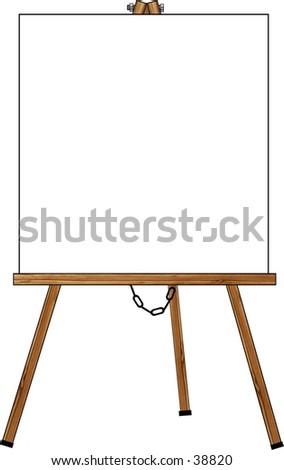 Clipart Illustration Easel Blank Card Stockillustration 38820