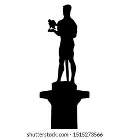 Clipart of Pobednik (the Victor), famous statue in Kalemegdan park / Belgrade, Serbia / Spomenik Pobednik