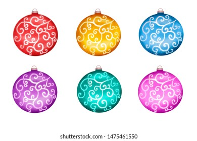 Clipart set of Christmas toys