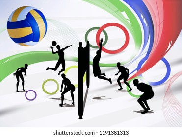 clipart vollyball competition sport