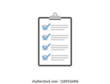 Clipboard checklist flat design. Check list illustration