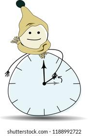 Clock change in wintertime