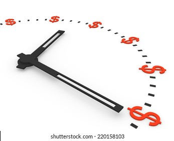 Clock with dollar signs instead numbers