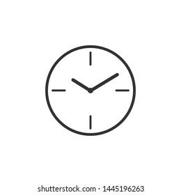Clock icon isolated. Flat design