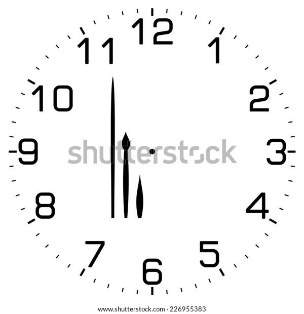 Clock image on white background