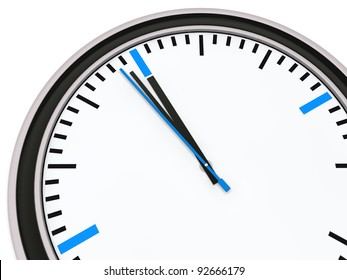 Clock with pointer one minute for twelve