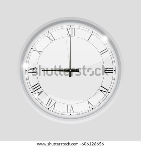 Clock Roman Numerals 9 Oclock 3 D Stock Illustration 606126656 - 3-roman-numerals-clocks