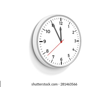 Clock showing time 5 to 12.
