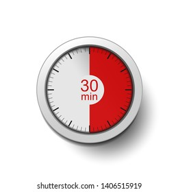 The clock shows a length of 30 minutes, red color as a time indicator.