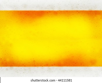 Close up of beer bubbles abstract background