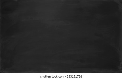 Close up blank black chalkboard. Background and texture.