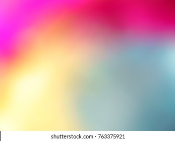 A Close up Image of Multi Coloured Graduated Light Showing a Colour Effect of Cloud Mist and Fog