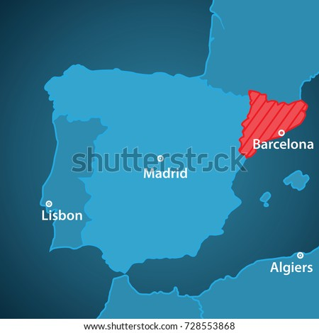 Royalty Free Stock Illustration Of Close Map Iberian Peninsula
