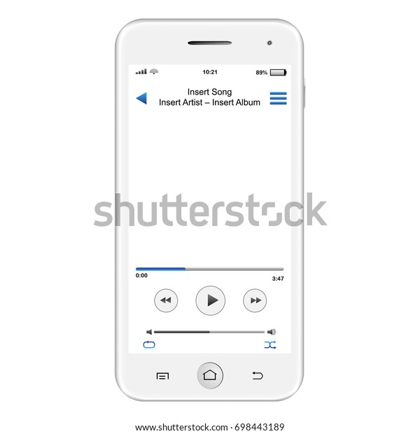Close On Smart Phone Mp3 Reader Stock Illustration 698443189