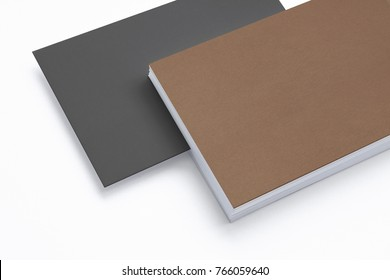 Close view blank carton business card stock illustration 765521185 close view of blank business card isolated on white 3d render template to showcase your accmission Images
