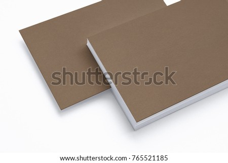 Close view blank carton business card stock illustration 765521185 close view of blank carton business card isolated on white 3d render template to showcase wajeb Image collections