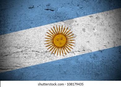 Close view of a vintage argentine flag illustration