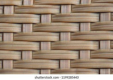 close up wicker braiding for background