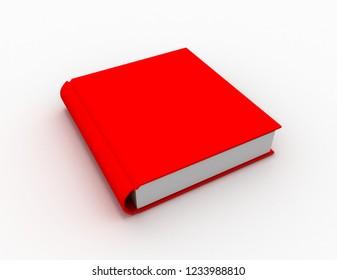 closed book.3d illustration