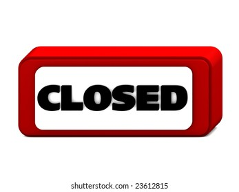 closed icon in 3D digital