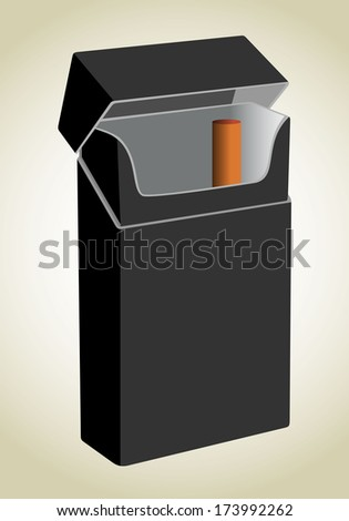 closed opened empty cigarettes pack template stock illustration