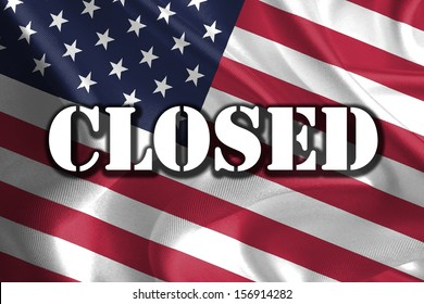 CLOSED Text Message on USA Flag